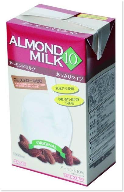 筑波乳業のアーモンドミルク(砂糖不使用)1000ml