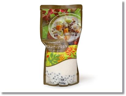ブラックタピオカ入りのココナッツミルク